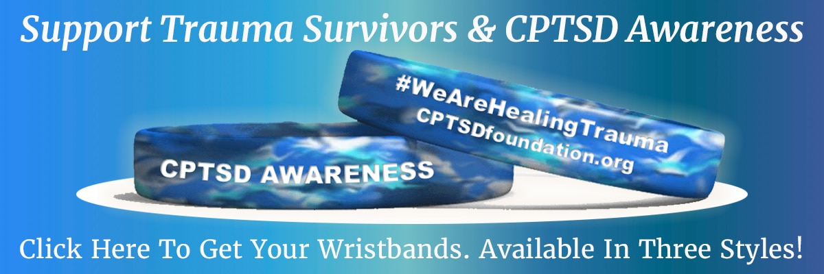 we are healing trauma wristband - cptsd foundation